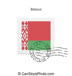 Belarus Flag Postage Stamp - Belarus Flag Postage Stamp on...