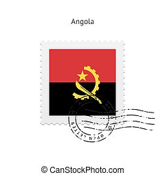 Angola Flag Postage Stamp - Angola Flag Postage Stamp on...