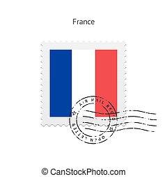 France Flag Postage Stamp - France Flag Postage Stamp on...
