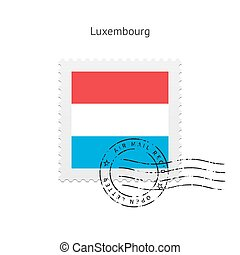 Luxembourg Flag Postage Stamp - Luxembourg Flag Postage...