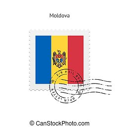 Moldova Flag Postage Stamp. - Moldova Flag Postage Stamp on...