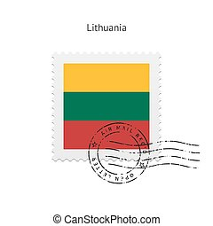 Lithuania Flag Postage Stamp. - Lithuania Flag Postage Stamp...