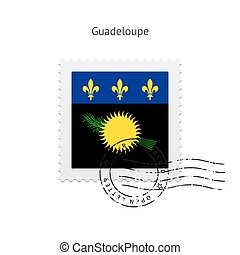 Guadeloupe Flag Postage Stamp - Guadeloupe Flag Postage...