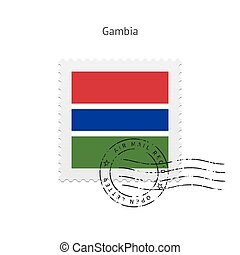 Gambia Flag Postage Stamp - Gambia Flag Postage Stamp on...