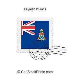 Cayman Islands Flag Postage Stamp. - Cayman Islands Flag...