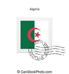 Algeria Flag Postage Stamp - Algeria Flag Postage Stamp on...
