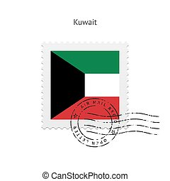 Kuwait Flag Postage Stamp - Kuwait Flag Postage Stamp on...