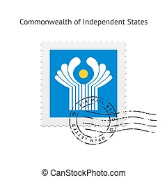 Commonwealth of Independent States Flag Postage Stamp. -...