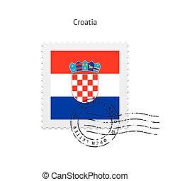 Croatia Flag Postage Stamp - Croatia Flag Postage Stamp on...