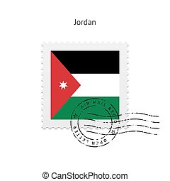 Jordan Flag Postage Stamp - Jordan Flag Postage Stamp on...