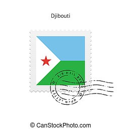 Djibouti Flag Postage Stamp - Djibouti Flag Postage Stamp on...