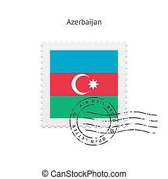 Azerbaijan Flag Postage Stamp. - Azerbaijan Flag Postage...