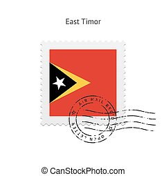 East Timor Flag Postage Stamp - East Timor Flag Postage...
