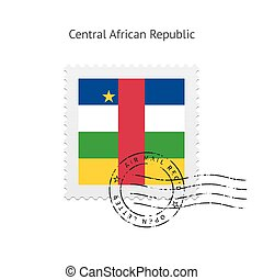 Central African Republic Flag Postage Stamp - Central...
