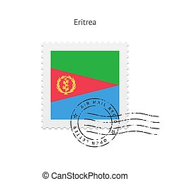 Eritrea Flag Postage Stamp. - Eritrea Flag Postage Stamp on...