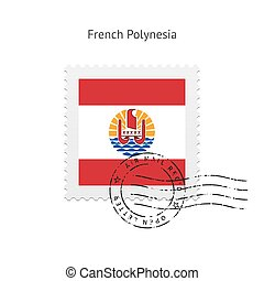 French Polynesia Flag Postage Stamp. - French Polynesia Flag...