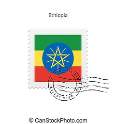 Ethiopia Flag Postage Stamp - Ethiopia Flag Postage Stamp on...