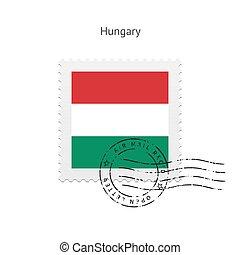 Hungary Flag Postage Stamp - Hungary Flag Postage Stamp on...