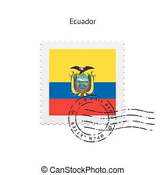 Ecuador Flag Postage Stamp - Ecuador Flag Postage Stamp on...