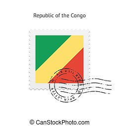 Republic of the Congo Flag Postage Stamp - Republic of the...