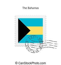 Bahamas Flag Postage Stamp. - Bahamas Flag Postage Stamp on...
