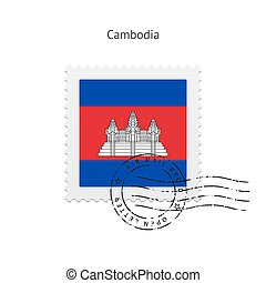 Cambodia Flag Postage Stamp - Cambodia Flag Postage Stamp on...