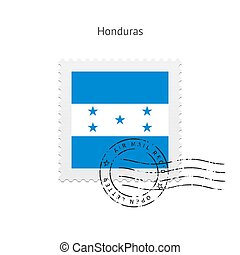 Honduras Flag Postage Stamp - Honduras Flag Postage Stamp on...