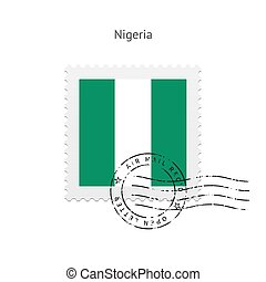 Nigeria Flag Postage Stamp - Nigeria Flag Postage Stamp on...