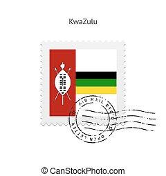 KwaZulu Flag Postage Stamp - KwaZulu Flag Postage Stamp on...