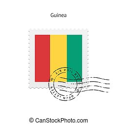 Guinea Flag Postage Stamp - Guinea Flag Postage Stamp on...