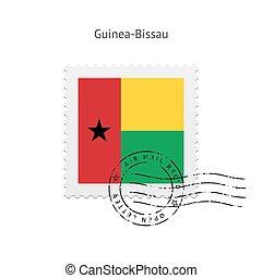 Guinea-Bissau Flag Postage Stamp - Guinea-Bissau Flag...