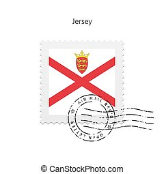 Jersey Flag Postage Stamp - Jersey Flag Postage Stamp on...