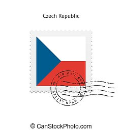 Czech Republic Flag Postage Stamp. - Czech Republic Flag...