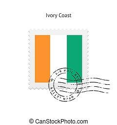 Ivory Coast Flag Postage Stamp - Ivory Coast Flag Postage...