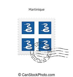 Martinique Flag Postage Stamp - Martinique Flag Postage...