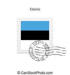 Estonia Flag Postage Stamp - Estonia Flag Postage Stamp on...