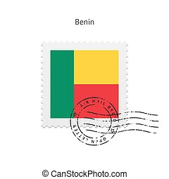 Benin Flag Postage Stamp. - Benin Flag Postage Stamp on...