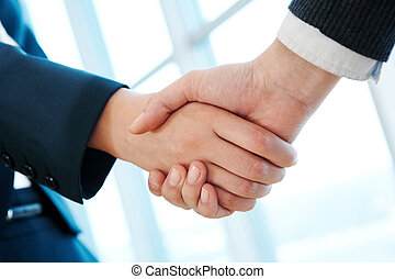 Agreement - Photo of handshake of business partners after...