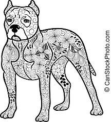 Pitbull dog doodle