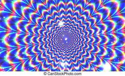 Blue optical expansion illusion for Your desing