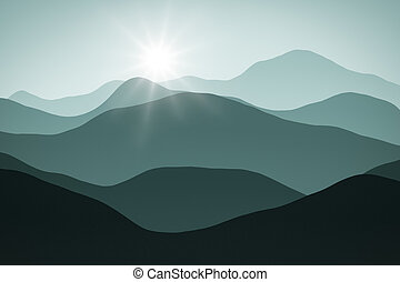 simple landscape background
