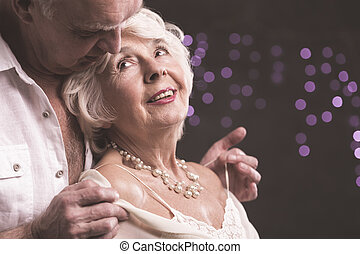 All my love belongs to you - Happy senior woman and man...
