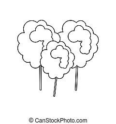 Sugar food design cotton candy icon sweet illustration vecto...