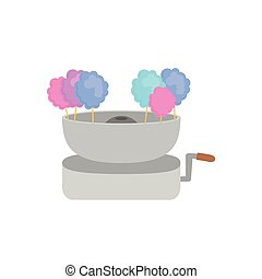 Sugar food design. cotton candy icon. sweet illustration....