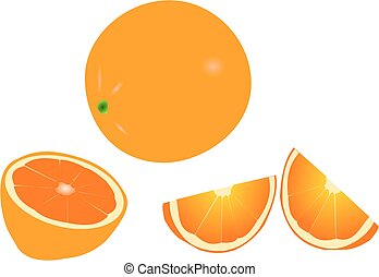 orange, orange slicing , tropical fruit,