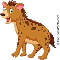 cute hyena cartoon posing