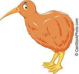 cute kiwi bird cartoon posing