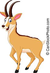 cute chamois cartoon posing - vector illustration of cute...