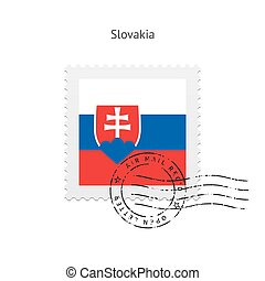 Slovakia Flag Postage Stamp - Slovakia Flag Postage Stamp on...