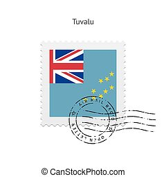 Tuvalu Flag Postage Stamp. - Tuvalu Flag Postage Stamp on...